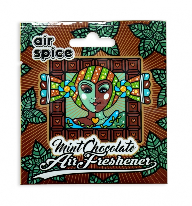 Air Spice mint chocolate - vonná visačka